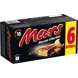 Mars Barre glacée nappée caramel enrobée cacao