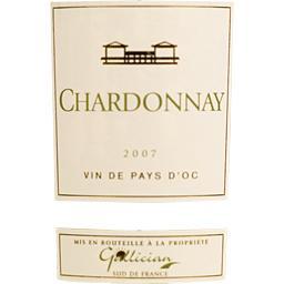 Vin blanc de pays d'Oc Chardonnay, vin blanc