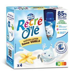 Récré O'lé - Goûters laitiers vanille
