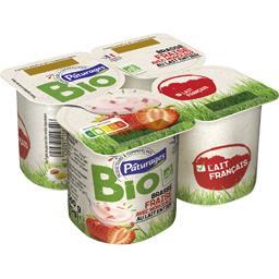 Yaourt brassé fraise avec morceaux