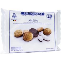 Biscuits Amelia au coco enrobés de chocolat au lait