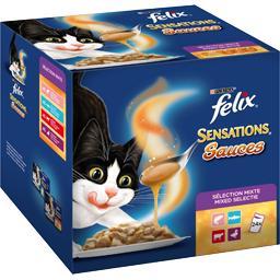 Pâtée pour chats effilés Sensations Sauce Surprise