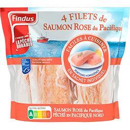 Findus Filets de saumon rose du Pacifique le sachet de 400 g