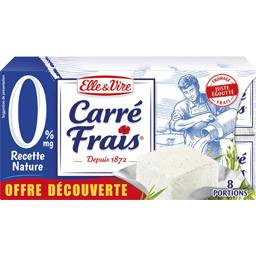 carré frais 0% nature 8 portions 25g