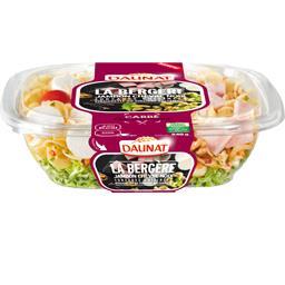 Daunat Salade La Bergère jambon chèvre noix la barquette de 240 g