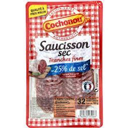 Saucisson sec sel réduit