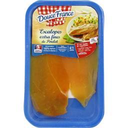 Escalopes extra fines de poulet jaune