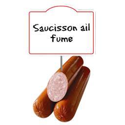Saucisson cuit supérieur à l'AIL FUME