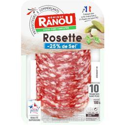 Monique Ranou Rosette réduit en sel sans peau la barquette de 10 tranches - 100 g