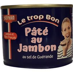 Stéphan Pâté au jambon Le Trop Bon au sel de Guérande la boite de 185 g