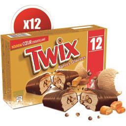 Barres glacées caramel biscuit chocolat au lait