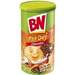 Biscuits riche en céréales P'tit Dej nappés de choco...