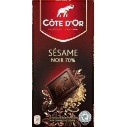Chocolat sésame noir 70%