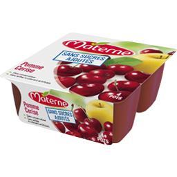 Sans Sucres Ajoutés - Spécialité de pomme cerise