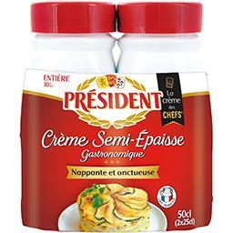 Crème entière semi-épaisse 30% MG