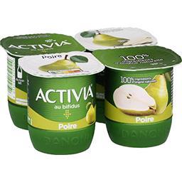 Activia - Lait fermenté au bifidus poire