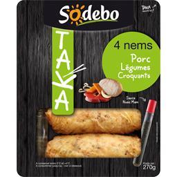 Taka - Nems porc légumes croquants