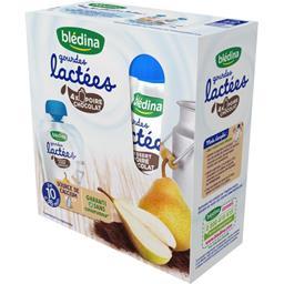Gourdes Lactées - Laitage poire chocolat, de 10 à 36...