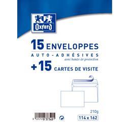 Cartes de visite & enveloppes 114x162