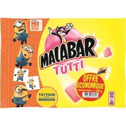 Malabar Bubble-gum goût tutti frutti le paquet de 318 g