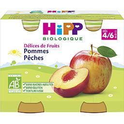 Délices de Fruits - Pommes pêches BIO, dès 4/6 mois