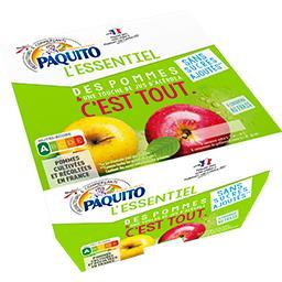 Paquito L'Essentiel - Purée de pommes sans sucres ajoutés les 8 pots de 100 g