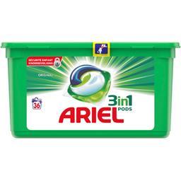 Ariel Original - 3en1 - lessive en capsules - 36 lavages