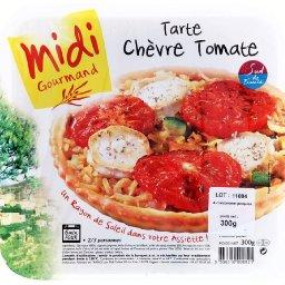 Tarte chèvre tomate