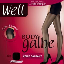 Body Galbe - Collant voile galbant noir T2