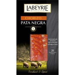 Labeyrie Chorizo Pata Negra le paquet de 20 tranches - 70 g