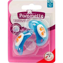 Sucettes silicone T2, 6/18 m