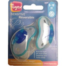 Sucettes Sensitive Réversible bleu, 6-18 m