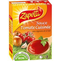 Sauce tomate cuisinée aux oignons et à l'ail
