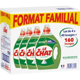 Le Chat L'Expert - Lessive liquide Bicarbonate le lot de 4 bidons de 2 l -