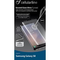 Protection verre trempé bord à bord noirs Samsung Galaxy S8