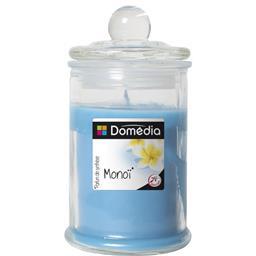 Bonbonnière remplie de cire colorée parfumée bleu/mo...
