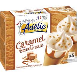 Glace caramel beurre salé sauce caramel