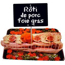 Roti PORC figue au foie gras