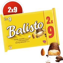 Balisto Barres chocolatées goût miel amandes