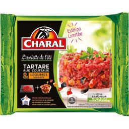 Charal Tartare aux couteaux & légumes marinés la barquette de 175 g