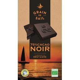 Grain de Sail Chocolat 75% cacao noir BIO la tablette de 100 g