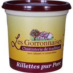 Les Gorronnaises Rillettes pur porc le pot de 420 g