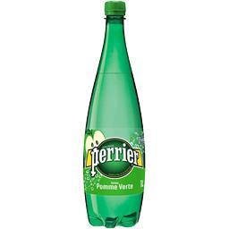 Boisson à l'eau minérale naturelle saveur pomme verte,PERRIER,la bouteille de 1 l