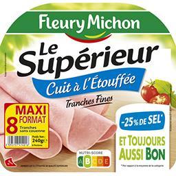 Jambon cuit à l'étouffée sans couenne de qualité sup...