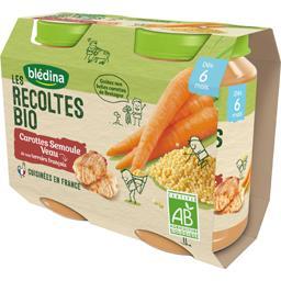 Les Récoltes BIO - Carottes semoule veau BIO, dès 6 ...