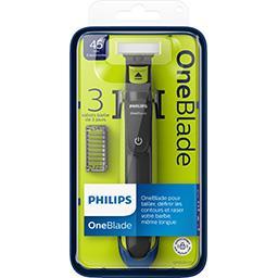 OneBlade - Rasoir électrique 3 sabots barbe de 3 jou...