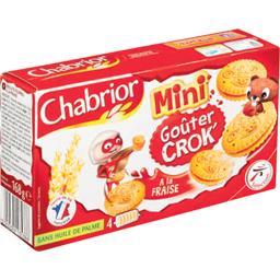 Mini biscuits Goûter Crok' à la fraise