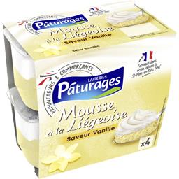 Mousse à la Liégeoise saveur vanille