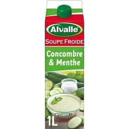 Soupe froide concombre & menthe