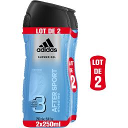 Adidas Gel douche After Sport, Body Hair Face 3 en 1